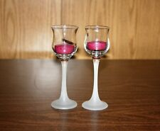 PARTYLITE ICED CRYSTAL PAIR TEA LIGHT HOLDERS