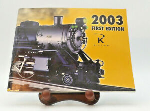 2003 First Edition K LINE O Scale Catalog