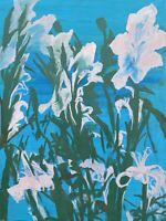 Brigitte Tietze Berlin Peinture À L'Huile Nature Morte Fleurs Lys Expressiver