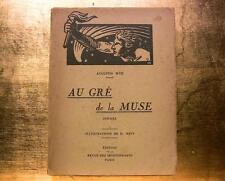 POESIE HUC AU GRE DE LA MUSE LIVRE ILLUSTRE JOLIES DESSINS MEIN GRAVURES BOOK