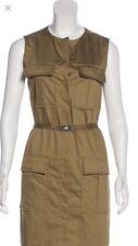 Victoria Beckham designer label olive dress with belt medium
