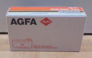 AGFA PAK XRG 200 COLOR NEGATIVE FILM AGFACOLOR EXP. DATE MARCH 1992 NIB