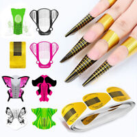 100PCS Nails Sticker Extension Guides French Nail Form Art Tips for UV Gel