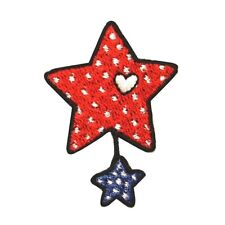 ID 1060 American Stars Craft Patch Patriotic Design Embroidered Iron On Applique