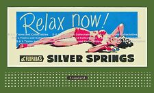 Billboard for Lionel Holder REPRODUCTION Relax Now Silver Springs