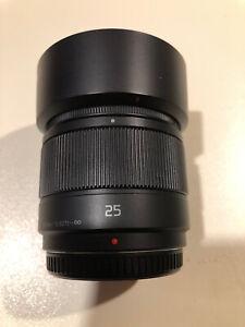 Panasonic LUMIX G 1,7/25 f/1.7 25 mm Obiettivo - Nero micro4/3 H-H025E