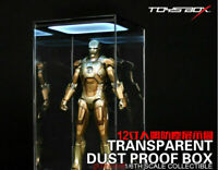 """1/6 LED Toys Box Transparent Display Box Dust Proof Case Fit 12"""" Action Figure"""