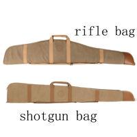 Tourbon Hunting Gun Slip Shotgun/Rifle Bags Carrying Case Padded Canvas Leather