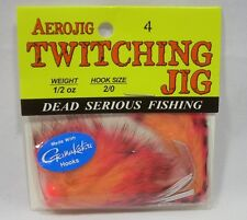 Aerojig 1/2oz Twitching Jig Cerise Red Peach Fishing Lure 2/0 Gamakatsu Hook