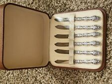 sterling silver small knife set 6 with case