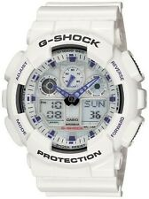 Casio G-Shock Men X-Large White & Blue Watch #GA100A-7A