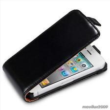 Funda piel sintetica para IPHONE 4 4S negra,funda Iphone 4/4S Nueva