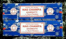 Satya Nag Champa Incense Sticks-Sai Baba 2 x 100 Gram, 200 Grams Free S&H