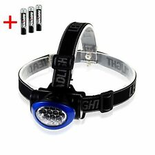 Water Resistant Led Headlamp Flashlight, Batteries Included Hi, Lo Beam Flashing
