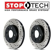 NEW Mercedes W203 W208 W209 W210 Pair Set of Rear StopTech Drilled Brake Rotors