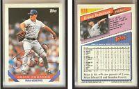 Brian Bohanon Signed 1993 Topps #638 Card Texas Rangers Auto Autograph