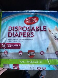 Simple Solution True Fit Disposable Dog Diapers for Female Dogs; Super Absorbent