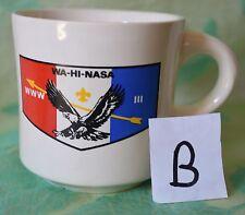 (B) Vintage WA-HI-NASA WWW III coffee cup mug USA collectible eagle arrow FDL