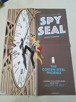 "SPY SEAL PROMO POSTER 2017 18"" x 24"" FOLDED PROMOTIONAL IMAGE COMICS UNUSED"