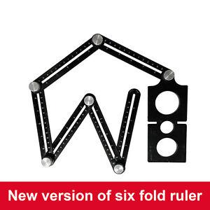 Folding Ruler Measuring Tools Aluminum Adjustable Ceramic Tile Hole Locator
