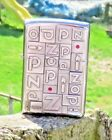 RARE ZIPPO 1932 EMBLEM LIGHTER RARE COLLECTABLE ZIPPO WITH BRIGHT RED STONES!!!