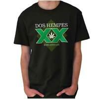 Dos Hempes Funny Marijuana Stoner Drinking Adult Short Sleeve Crewneck Tee