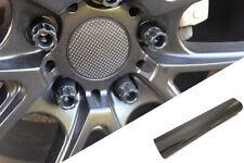 4x llantas aluminio EJES Tapa Diseño lámina cromo negro para muchos vehículos