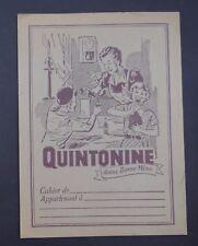 Protège cahier QUINTONINE marron Donne bonne mine copybook cover Wachbuch