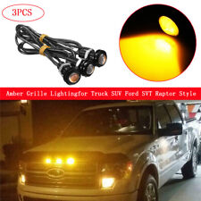 3x Universal Fit Truck SUV Ford SVT Raptor Style LED Amber Grille Lighting Kit