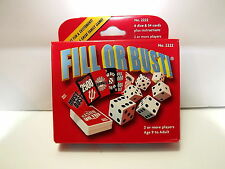 Fill Or Bust Dice Game Bowman Games Inc. 2009 Fun Family Dice Game New In Box