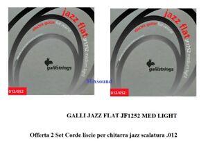 Galli Strings JAZZ FLAT JF 1252 JF1252 (due) 2 Set Corde liscie x chitarra jazz