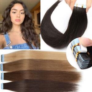 Tape in Skin Weft Remy Human Hair Extensions Russian Strong Tape Hairpiece Long