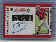 2019 Contenders Draft Picks Riley Ridley Rookie RC Auto Autograph JL