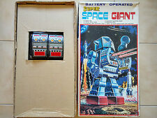 RARE SUPER SPACE GIANT ROBOT BATTERY OPERATED TIN JAPAN BY SH HORIKAWA WORKING !