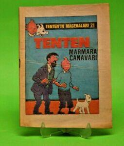 Milliyet Tintin Tenten Turkish Comics Turkey Marmara Monster RARE Adventure