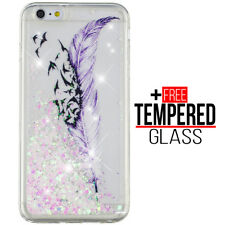 Voor iPhone 6 6S Liquid Glitter Bling Case Cover Soft Silicone Gel Shockproof