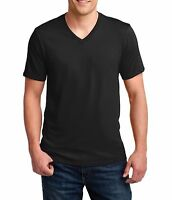 Men's V-neck Blank Anvil 982 T Shirt 100% Coton T-Shirt Super Soft Plain Tee