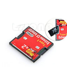 2 Port Slot micro SD TF SDHC to type I Compact Flash Card CF Reader Adapter CI