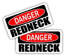 Funny Hard Hat Stickers | DANGER REDNECK Motorcycle Welding Helmet Decals Labels