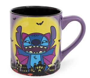 Disney Lilo & Stitch Vampire Halloween Mug Bat New