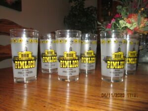 SET of 6 PIMLICO 104th Preakness Stakes 1979 Glasses~Baltimore Horse Racing