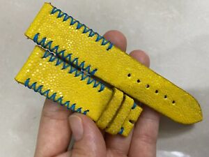 22mm FLAT Yellow   Genuine Stingray WATCH STRAP BAND ( Make your request )