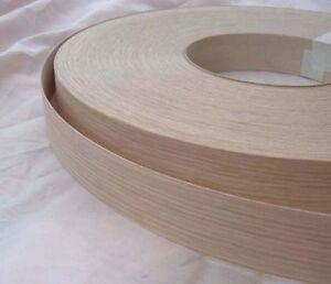 Iron on Oak wood veneer edging tape preglued 25mm wide