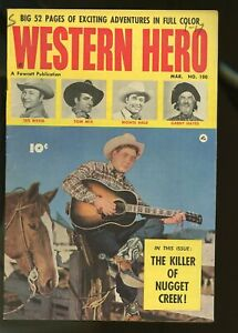 WESTERN HERO #100 FINE 6.0 TOM MIX / MONTE HALE / TEX RITTER 1951 FAWCETT