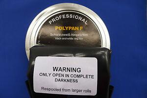 POLYPAN 35MM X 50ft B/W BULK FILM ULTRA/FINE 50/200 asa PROCESS/ PAN F OR FP4