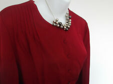 EAST Long Line Cherry Red Top with Silk-like Touch 16