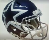 Roger Staubach Dallas Cowboy signed full size AMP Speed Helmet with Coa/Beckett