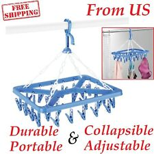 Drip Clip Laundry Hanger 26 Clips Drying Clothes Storage Hanging Hangers Rack US
