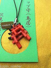 Lucky Charm TORII Strap Omamori Fushimi Inari Taisha Shinto Shrine Kyoto Japan