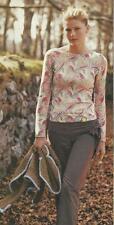 RARE Anthropologie 2003 Sequin Boatneck Floral Pullover Sweater Top HWR 12 14 L